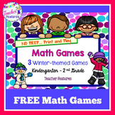 Winter-theme Roll & Cover Math Games: Free Downloads