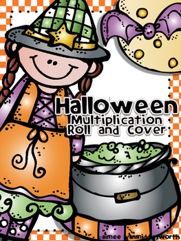 Halloween Roll and Cover for Multiplication Center Activity