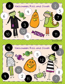 Halloween Roll and Cover/Roll and Color