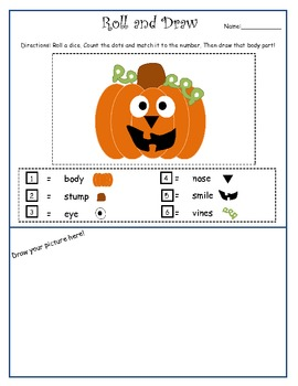 Halloween Roll and Draw!