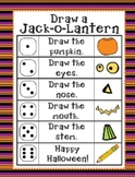 Halloween Roll and Draw a Jack-o-Lantern (2 games in 1)