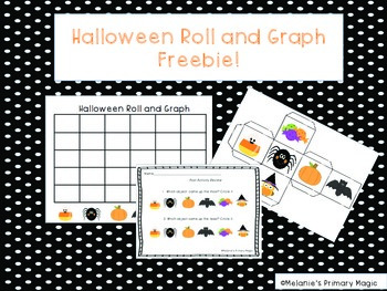 Halloween Roll and Graph Activity