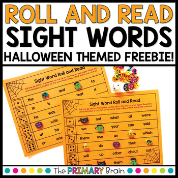 Halloween Roll and Read Sight Words