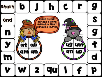 Halloween:  Roll and Rhyme Board Games