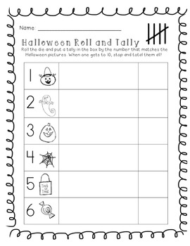 Halloween Roll and Tally