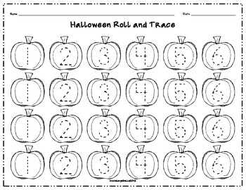 Halloween Roll and Trace