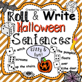 Halloween Roll and Write Sentences