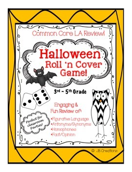 Halloween Roll 'n Cover LA Review Game (3rd, 4th, 5th grade)