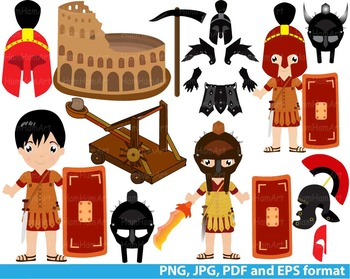 Halloween Rome Clip Art school teachers hero party warrior Gladiator history 127