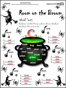 Halloween Activities Room On The Broom Halloween Reading