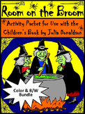 Halloween Activities: Room on the Broom Halloween Reading Activity Packet Bundle