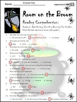Halloween Activities: Room on the Broom Halloween Reading Activity Packet Bundle