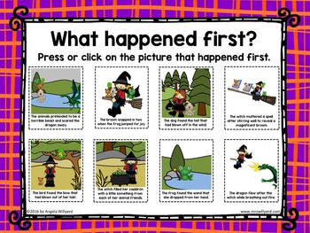 Halloween: Room on the Broom Sequencing Activity