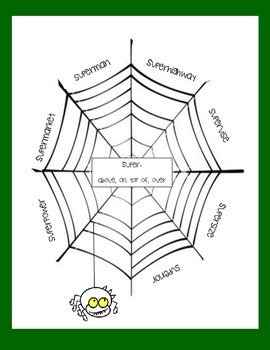 Halloween Root Word Web