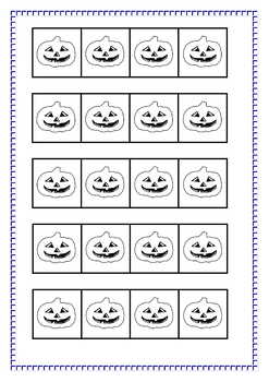 Halloween Rotating around a Point - for Juniors, Notes, answer key, 7pgs