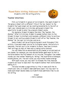 Halloween Round Robin Writing (Minimal Prep!)