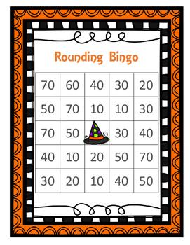 Halloween Rounding Bingo Tens Place