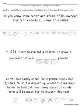 Halloween Math - Rounding Decimal Numbers