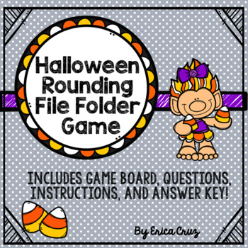 Rounding File Folder Game for Halloween