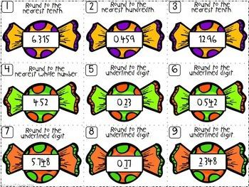 Halloween Math | Rounding FREEBIE