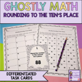 Halloween Math: Rounding to the Nearest 10 Task Cards (To the Nearest Tens)