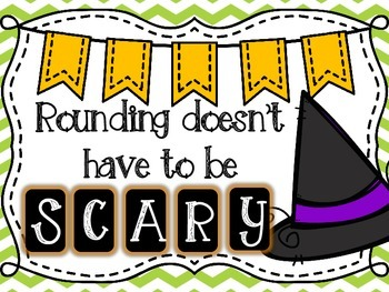 Halloween Rounding to the Nearest 10 and 100 Math Center
