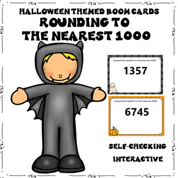 Halloween Rounding to the Nearest 1000 Boom Cards