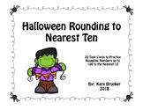 Halloween Rounding to the Nearest Ten Task Cards