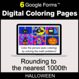 Halloween: Rounding to the nearest 1000th - Digital Coloring Pages