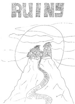 Halloween: Ruins Colouring Sheet