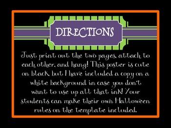 Halloween Rules FREEBIE