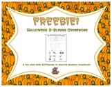 Halloween S-blends Crossword Freebie