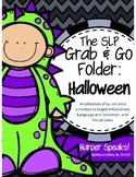 Halloween SLP Grab and Go Folder