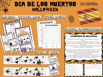 Halloween SPANISH- ESPAÑOL SET OF ACTIVITIES