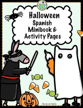 Halloween SPANISH Minibook & Theme Pack