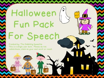 Halloween Fun Pack For Speech!