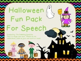 Halloween Fun Pack For Speech!