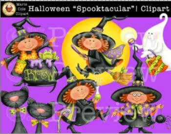 "Halloween ""SPOOKTACULAR""! Clipart [Marie Cole Clipart]"