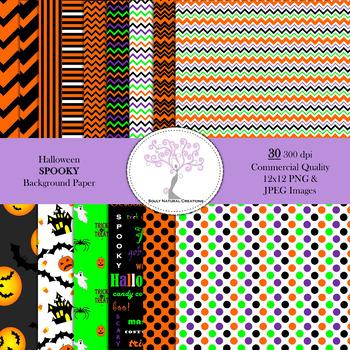 Halloween SPOOKY Background Paper