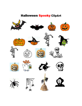 Halloween SPOOKY Clip Art
