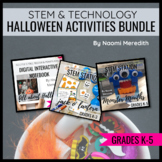 Halloween STEM Activities & Technology Lessons Bundle | Di