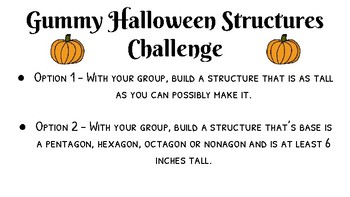 halloween stem activity toothpicks and gummies