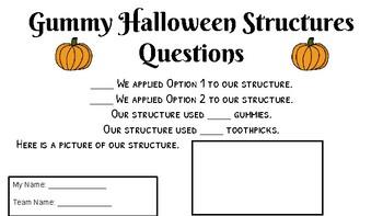 Halloween STEM Activity - Toothpicks and Gummies