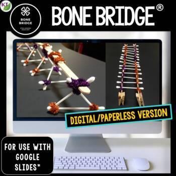 Halloween STEM Challenge Bone Bridge 1:1 PAPERLESS
