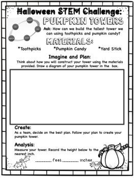 Halloween STEM Challenge: Pumpkin Towers
