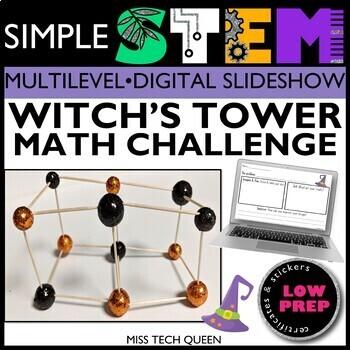 Halloween STEM Challenge - Witch's Tower Math