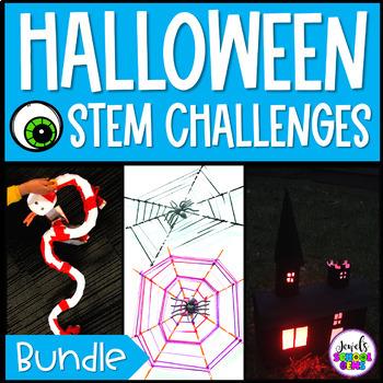 October Halloween STEM Challenges BUNDLE (Halloween STEM Activities)