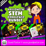 October Halloween STEM Challenges BUNDLE (Halloween STEM A
