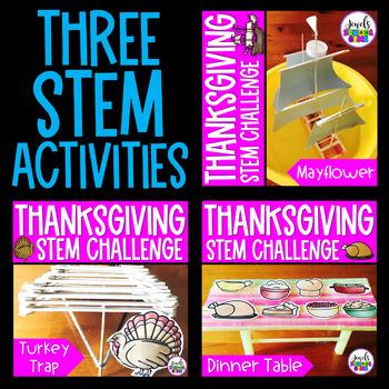 November Thanksgiving STEM Challenges BUNDLE (Thanksgiving STEM Activities)