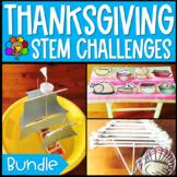 November Thanksgiving STEM Challenges BUNDLE (Thanksgiving